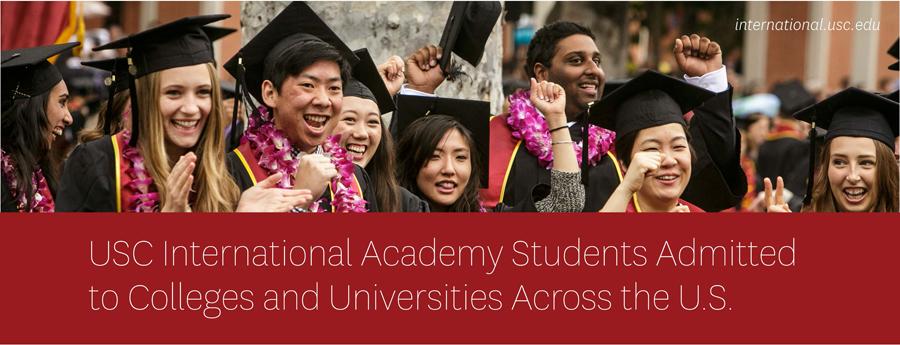 国际学院学生被全美各大高校录取 USC International Academy Admitted Schools